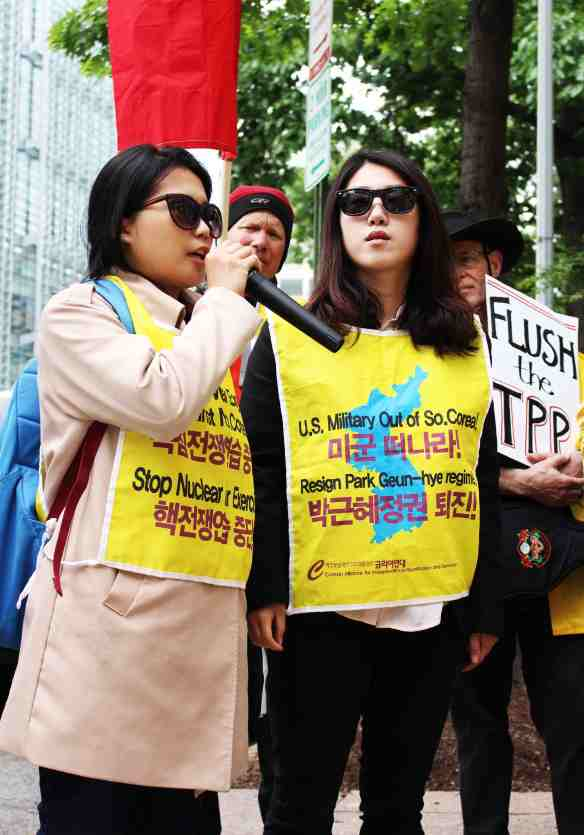 Women from South Korea speak out against free trade agreements