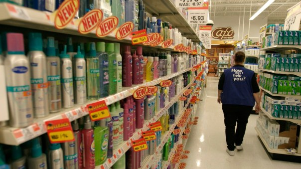 Wal-Mart Employee in Hair Product Aisle