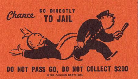Vintage Monopoly Card